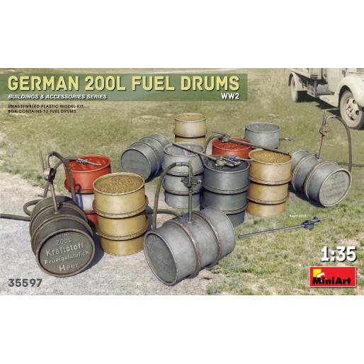 MiniArt 35597 Fûts de Carburant Allemands 200L WW2