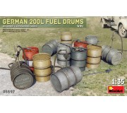 MiniArt 35597 German 200L Fuel Drums WW2