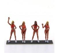 LE MANS miniatures Set of 4 Haiwaiian Tropic girls