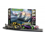 Scalextric C1405 Coffret American Police Chase (AMC Javelin Police car v Dodge Challenger)