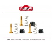 NSR 1217 Medium Suspension Kit - 9mm springs - for Inline Formula motor support