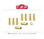 """NSR 4867 Entretoises  - 3/32 laiton - 3,750""""/9.50 mm (10pcs)"""