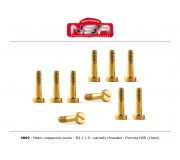 NSR 4869 Metric Suspension Screw - M2.2 x 9 mm - partially threaded for Formula 86/89 (10pcs)