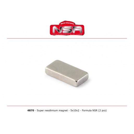 NSR 4870 Super Neodymium magnet - 5x10x2 mm - Formula 86/89 (2pcs)