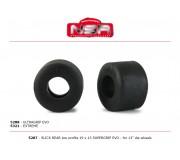 NSR 5287 Pneus Arrière Slick - Taille Basse - 19 x 13 SUPERGRIP EVO pour roues 13 Ø (4pcs)