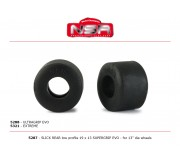 NSR 5287 Slick Rear - Low Profile - 19 x 13 SUPERGRIP EVO for 13 Ø wheels (4pcs)