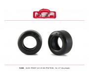 NSR 5290 Pneus Avant Slick - 16 x 8 - Sans friction pour roues 13 Ø (4 pcs)