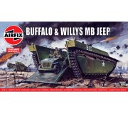 Airfix Vintage Classics - Buffalo Amphibian & Jeep® 1:72