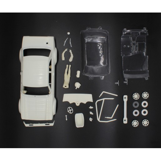 TTS Fort Escort full white body kit with lexan cockpit + wheel inserts