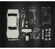 TTS Fort Escort kit carrosserie blanche complète avec cockpit lexan + enjoliveurs de roue