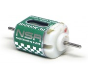 NSR 3002F SHARK 30 30000 rpm - 210 g.cm @ 12V Short can w/wires + sidewinder pignon for endbell drive
