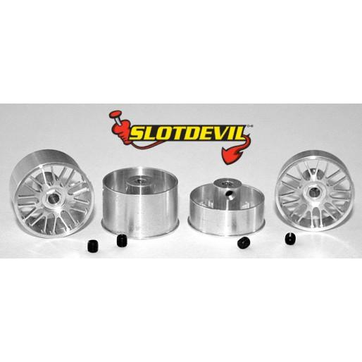 Slotdevil 2008219924 BBS 21mm Kit flat (4 rims)