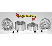 Slotdevil 2008219924 BBS 21mm Kit flat (4 rims)