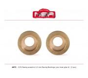 NSR 4873 Racing Eccentric Bushings - 0,3 mm - 3/32 autolubricant & no friction (2 pcs)
