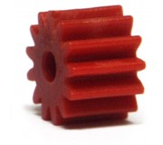 NSR 7213 Plastic Pinions Sidewinder 13 teeth no friction Red Ø6,5mm x4