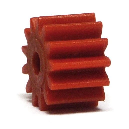 NSR 7313 Plastic Pinions Anglewinder 13 teeth no friction Red Ø7,5mm x4