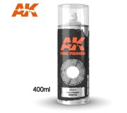 AK Interactive AK1011 Fine Primer White - Spray 400ml (Includes 2 nozzles)