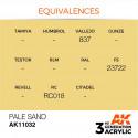AK Interactive AK11032 Pale Sand 17ml