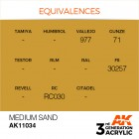 AK Interactive AK11034 Medium Sand 17ml