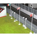 Slot Track Scenics Acc. 8 Bases for Flags/Speakers
