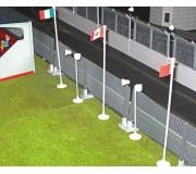 Slot Track Scenics Acc. 8 Bases pour Drapeaux/Haut-parleurs x5