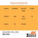 AK Interactive AK11041 Golden Yellow 17ml