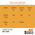 AK Interactive AK11056 Dark Flesh 17ml