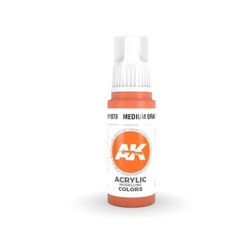 AK Interactive AK11078 Medium Orange 17ml