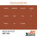 AK Interactive AK11103 Medium Rust 17ml