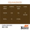 AK Interactive AK11109 Dark Brown 17ml