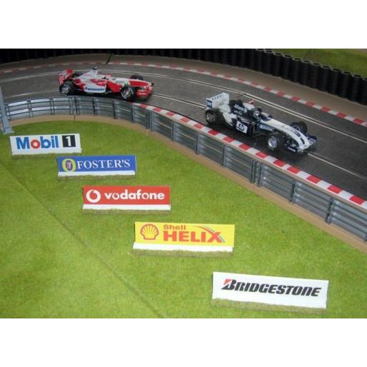 Slot Track Scenics Panneaux Publicitaires 3 B
