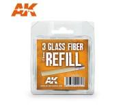 AK Interactive AK8065 3 Recharges en Fibre de Verre