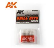 AK Interactive AK9043 Drill Bits (0.4 - 1.3mm)