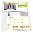 Slot Track Scenics Dec. 3 Champagne label decals