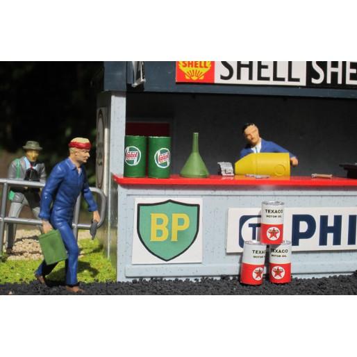 Slot Track Scenics Dec. 5 Decals Bidon d'huile Classique