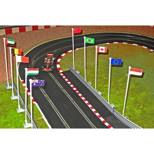 Slot Track Scenics FP A Drapeaux Pack A