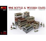 MiniArt 35571 Bouteilles de Vin & Caisses en Bois