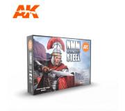 AK Interactive AK11601 Non Metallic Metal: Steel 6x17ml