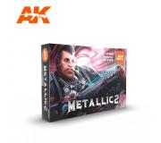 AK Interactive AK11608 Metallics Colors Set 6x17ml