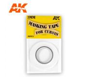 AK Interactive AK9124 Ruban de Masquage pour Courbes 3 mm