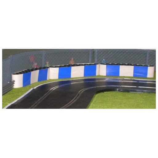 Slot Track Scenics TC-B Tyre Covers with blue blocks x5