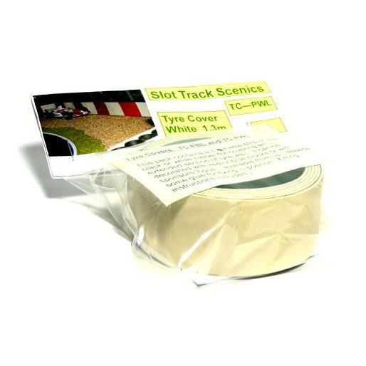 Slot Track Scenics TC-PWL Couvre Pneus blanc uni 1,4m