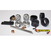 Slotdevil 20243002 Carrera Tuningkit C2 HA/VA Gleitlager PU Reifen