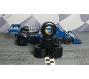 Paul Gage PGT-SXH-TYRELL P34 Pneus Uréthane Scalextric Tyrrell P34 x2