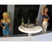 Slot Track Scenics Acc. 12 Bouteilles de Champagne + Table
