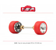 NSR 9133 3/32 Rear kit racing ultralight RTR - Ø 17,3mm wheels
