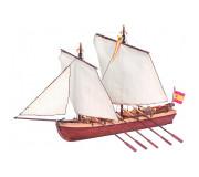 Artesanía Latina 19014 Maquette Bateau en Bois: Canot du Capitaine Santisima Trinidad 1/50