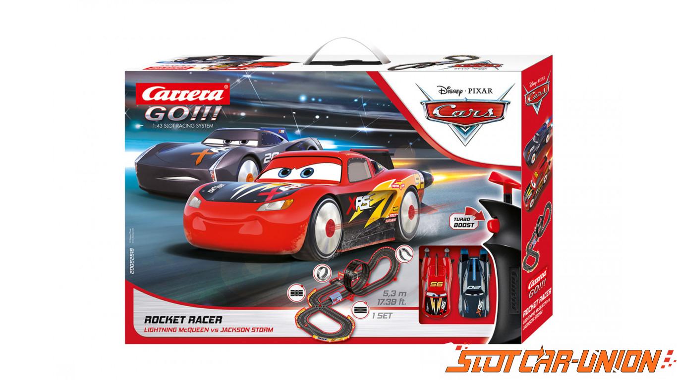 Carrera Go 62518 Disney Pixar Cars Rocket Racer Set Slot Car Union