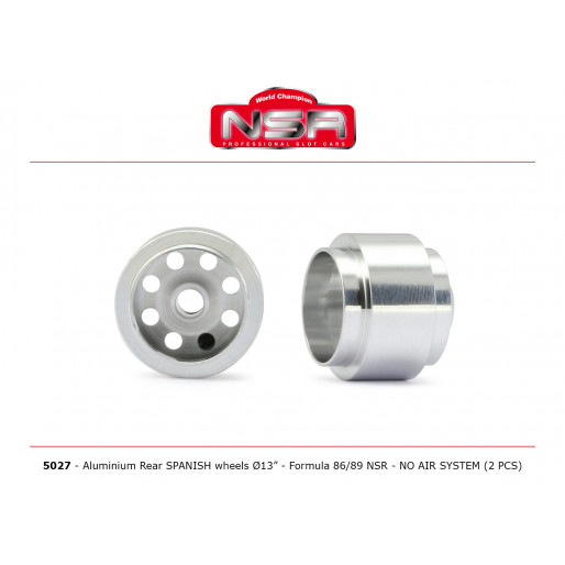 NSR 5027 3/32 Wheels - Rear Ø 13x10mm - Ultralight & very accurate SPANISH WHEELS for Formula 86/89 (2pcs)