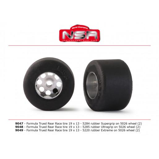 NSR 9047 3/32 Formula trued rear race tire SUPERGRIP 19x13 (2 pcs)